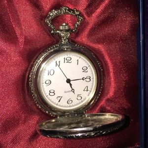 Jewelry - Silver Embellished Pocket Watch
